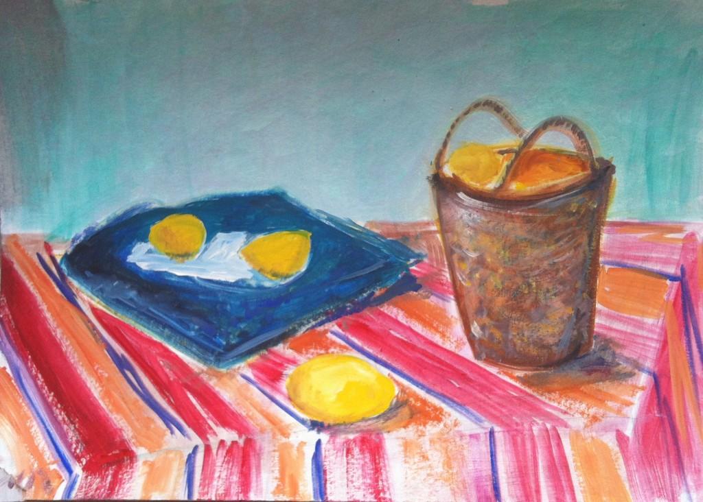 3. Masa si cos cu fructe